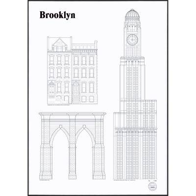 Studio Esinam Brooklyn Landmarks juliste