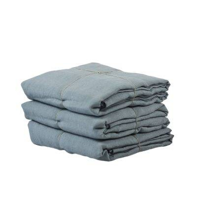 Tell Me More Washed Linen pussilakana yhdelle, dusty blue