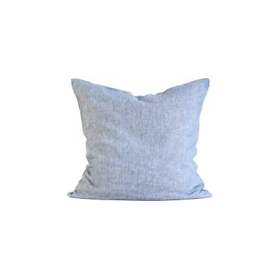 Tell Me More Washed Linen tyynyliina 65x65, woven light blue