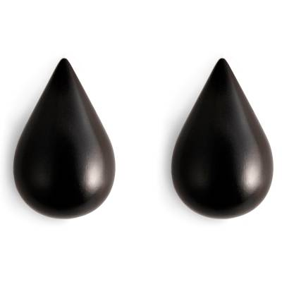 Normann Copenhagen Drop-It seinäkoukku L, musta