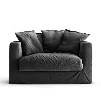 Decotique Le Grand Air Loveseat, Carbon Dust
