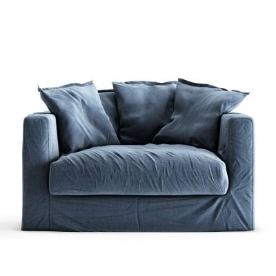 Decotique Le Grand Air Loveseat, Feeling Blue