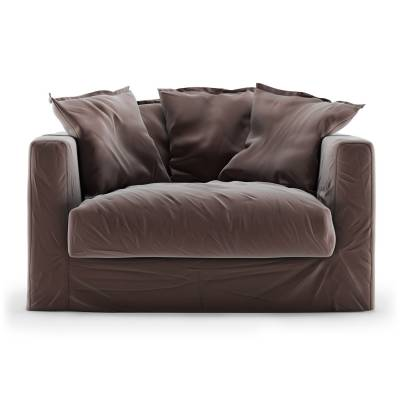 Decotique Le Grand Air Loveseat sametti, Moleskin Brown