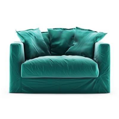 Decotique Le Grand Air Loveseat sametti, Azure