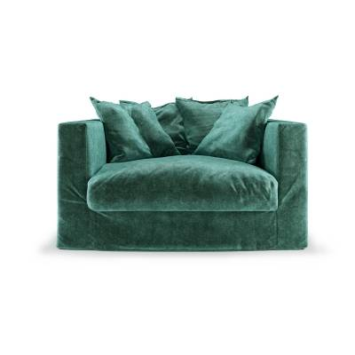 Decotique Le Grand Air Loveseat, Petrol Green