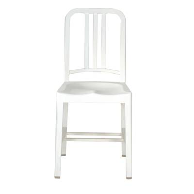 Emeco 111 Navy Chair, snow white