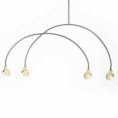 101 Copenhagen Arc pendant lamp mobile, messinki