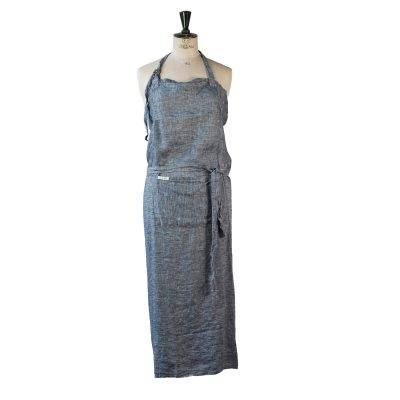 Tell Me More Washed Linen esiliina, denim blue