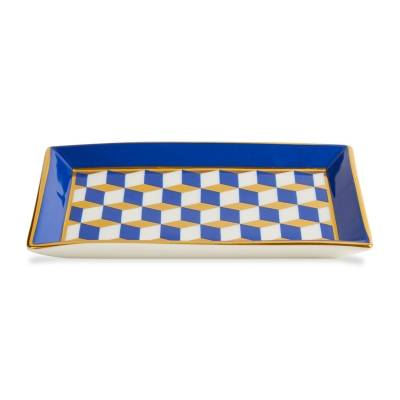 Jonathan Adler Versailles Rectangle vati, sininen