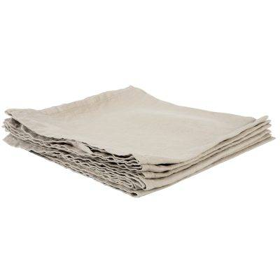 Tell Me More Washed Linen servetit 45x45, warm grey