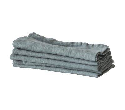 Tell Me More Washed Linen käsipyyhe, dusty blue