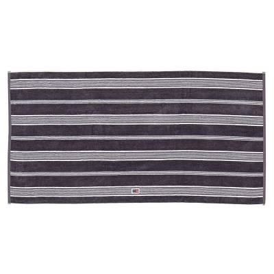 Lexington Striped Velour pyyheliina 30x50, charcoal/valkea
