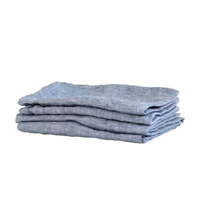 Tell Me More Washed Linen keittiöpyyhe, woven light blue