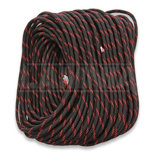 Live Fire Gear 550 FireCord 30,5m Black/Red Line