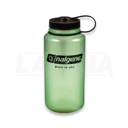 Nalgene Bottle 1L. WM, green glow