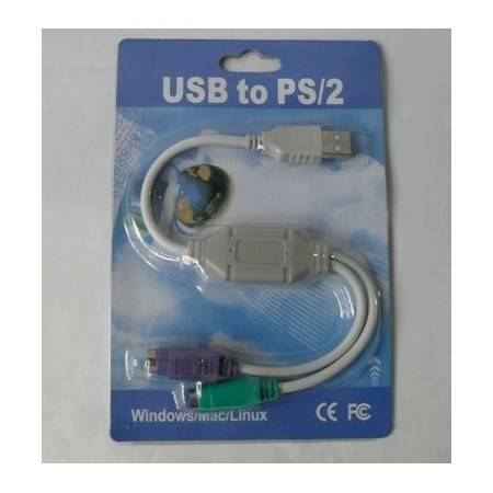 e-ville.com USB to PS/2 Converter - Adapterikaapeli