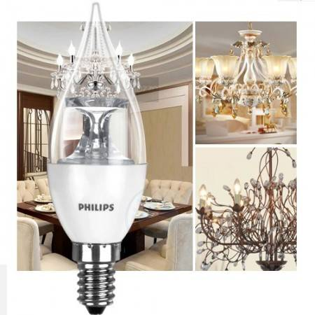 Philips 5W LED-kattokruunupolttimo E14