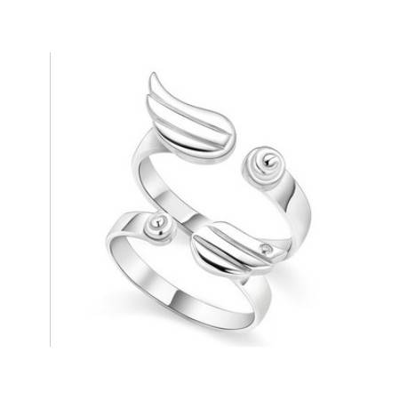 e-ville.com Couple Rings - Enkelin siivet -parisormus