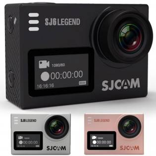SJCAM SJ6 Legend WiFi 2K action-kamera 16MP - Musta