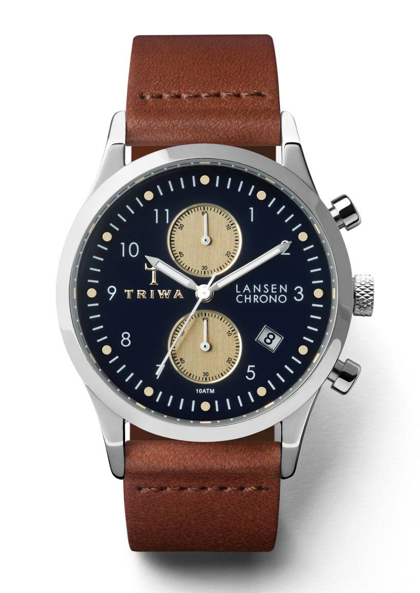 Triwa LCST117 Pacific Lansen Chrono Brown Classic-Silver