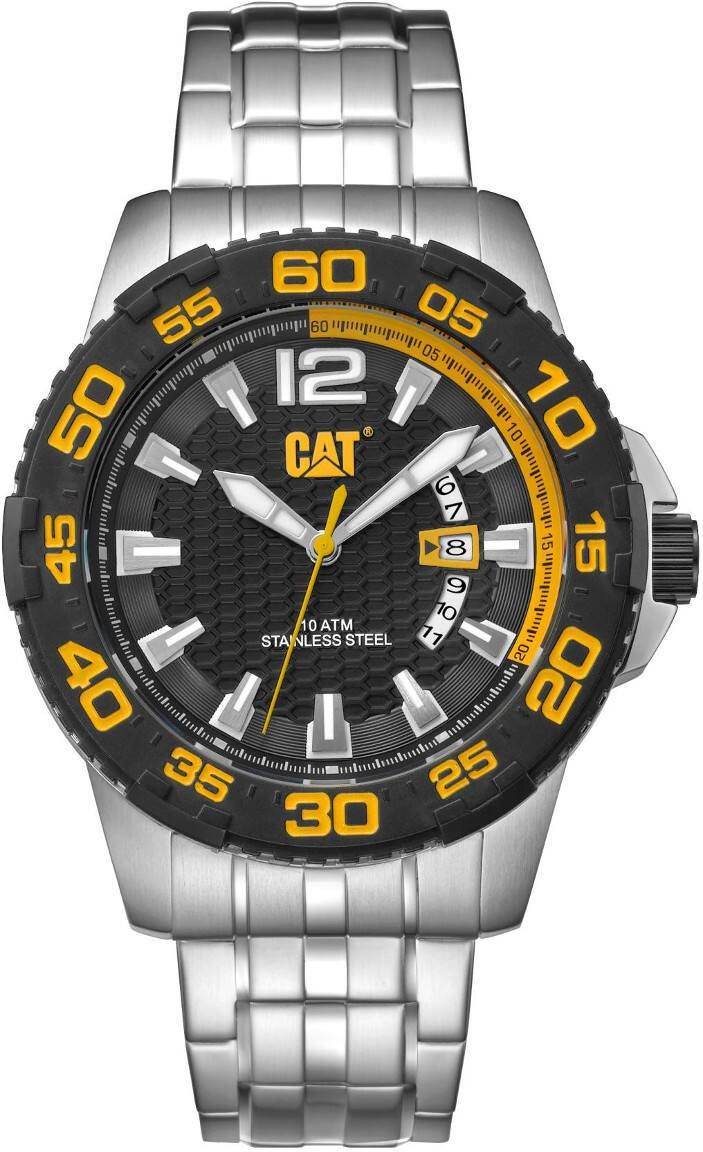Caterpillar CAT Drive Date Black Yellow Dial PW.141.11.127