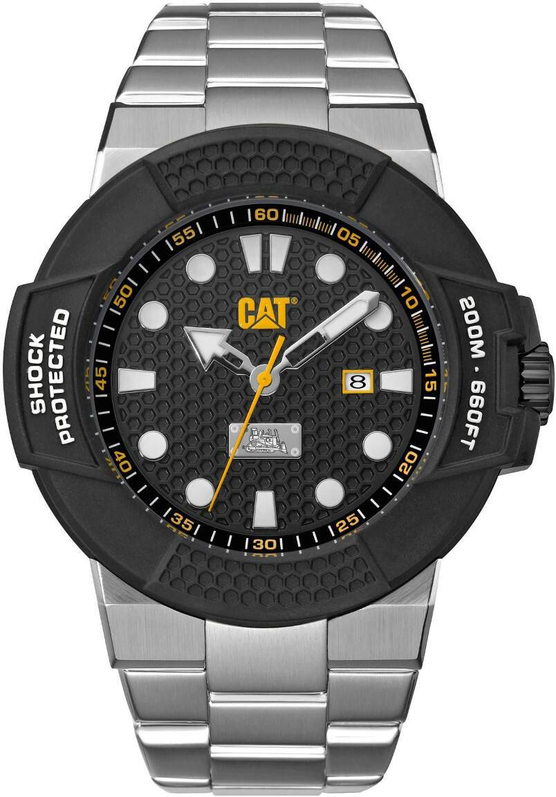 Caterpillar Shockmaster Steel Black dial SF.141.11.111
