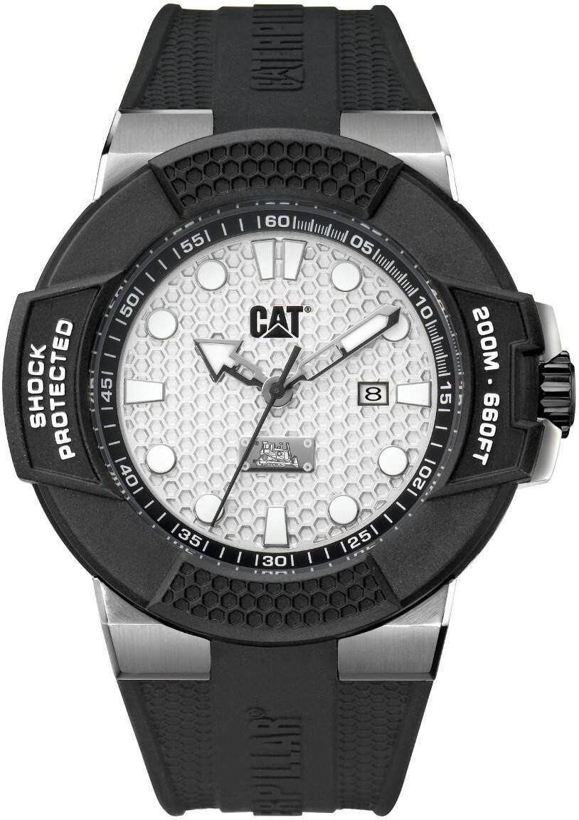 Caterpillar CAT Shockmaster Steel Silver dial silicone SF.141.21.212