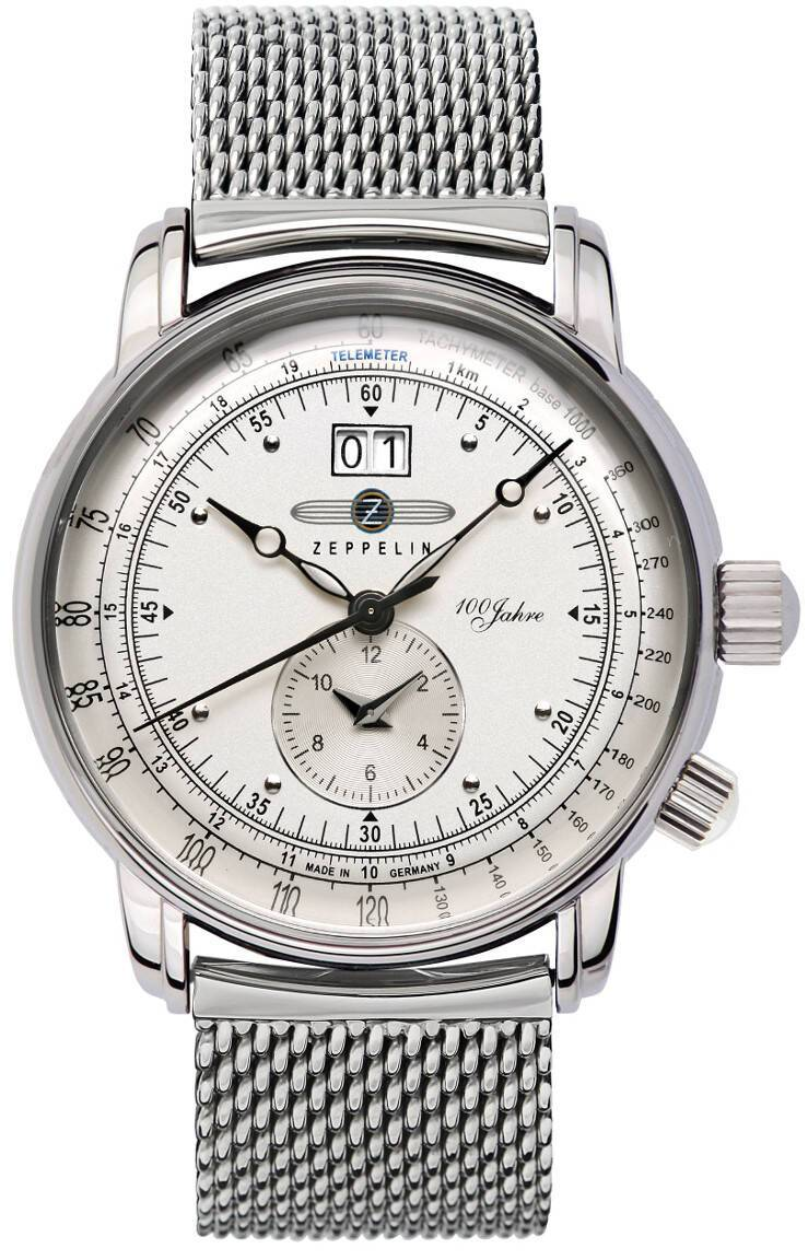 Zeppelin 100 Jahre Dual-Time Ronda6203 MB 7640M-1