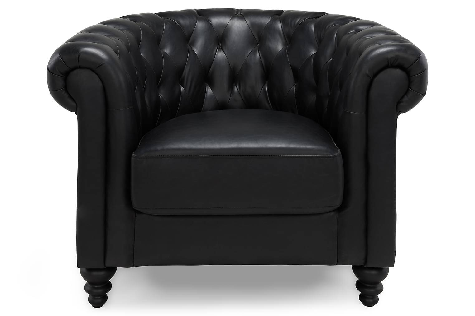 Scandinavian Choice Nojatuoli Chesterfield Musta -