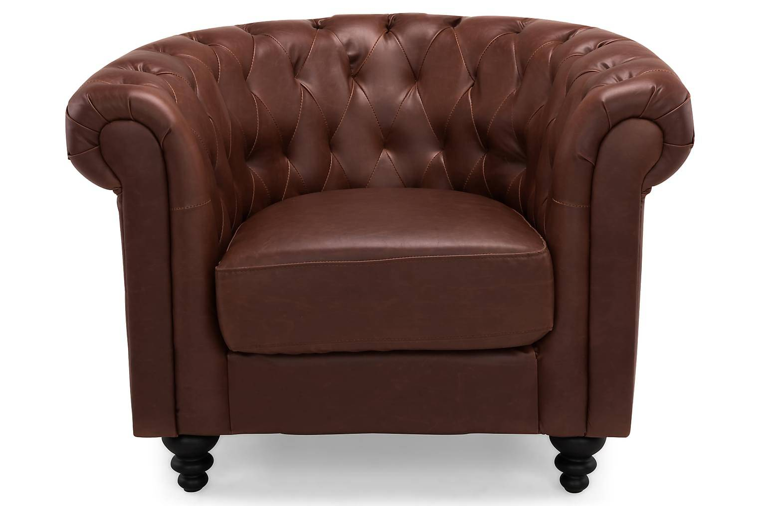 Scandinavian Choice Nojatuoli Chesterfield Punaruskea -