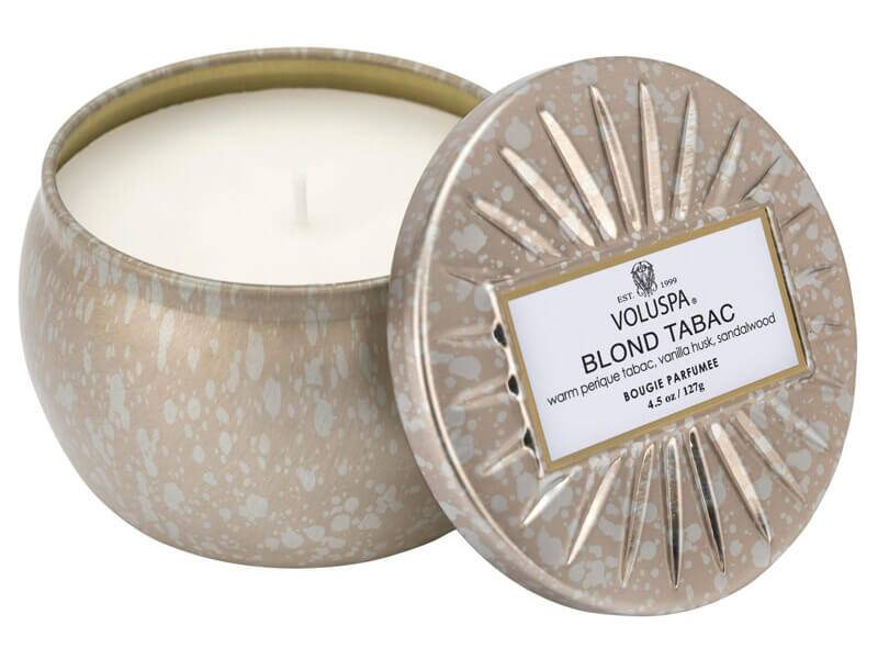 Voluspa Blond Tabac Decorative Tin Candle 25 Tim