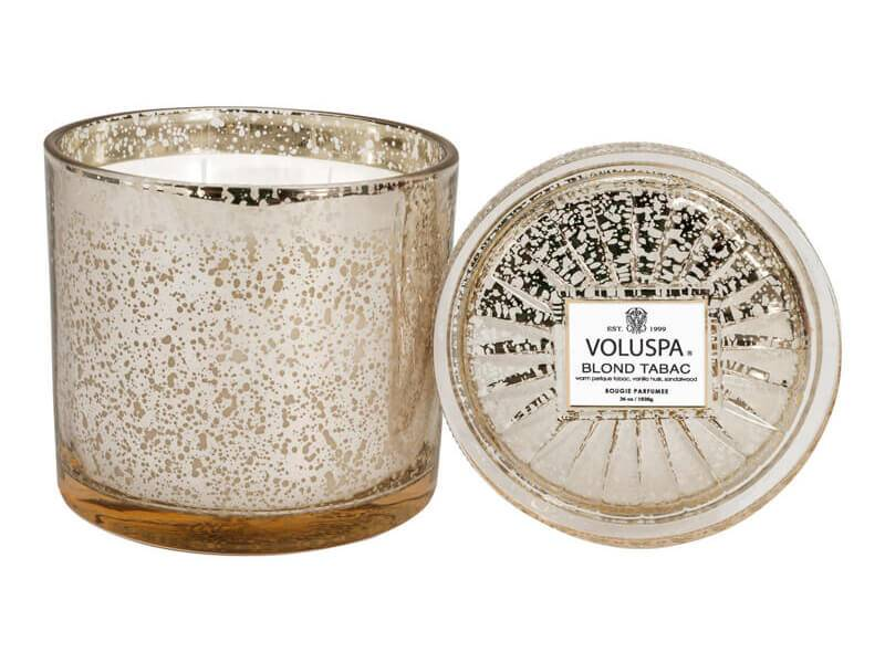 Voluspa Blond Tabac Grand Maison Glass Candle 100+ Tim