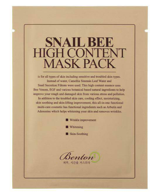 Benton Snail Bee High Content Mask (Pack 10-Pack)