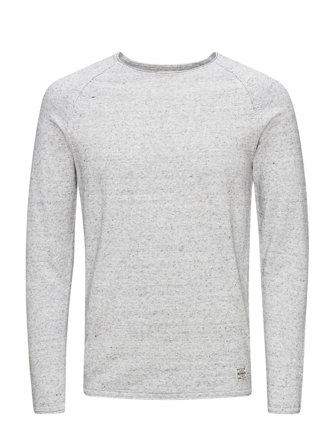 Jack & Jones Classic Knitted Pullover LightGreyMelange