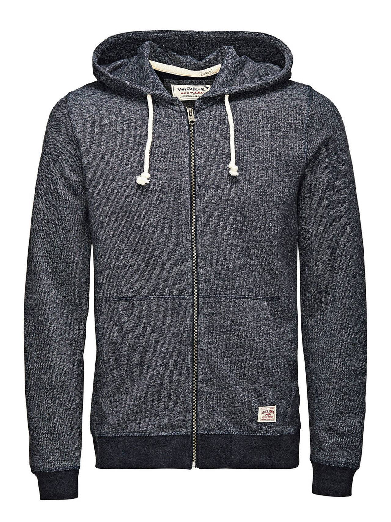 Jack & Jones Hooded Zip Through Sweatshirt DressBlues