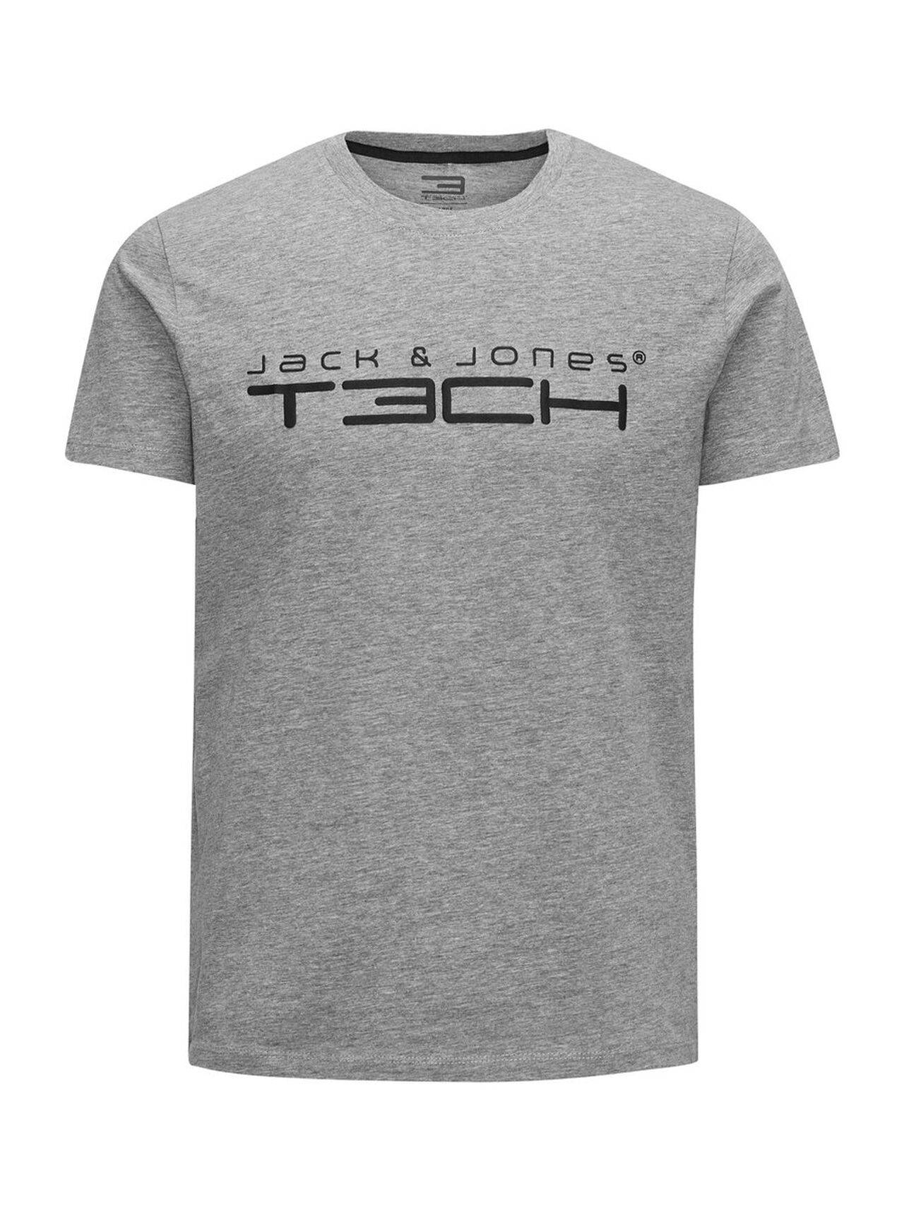 Jack & Jones Printed Sports T-Shirt LightGreyMelange