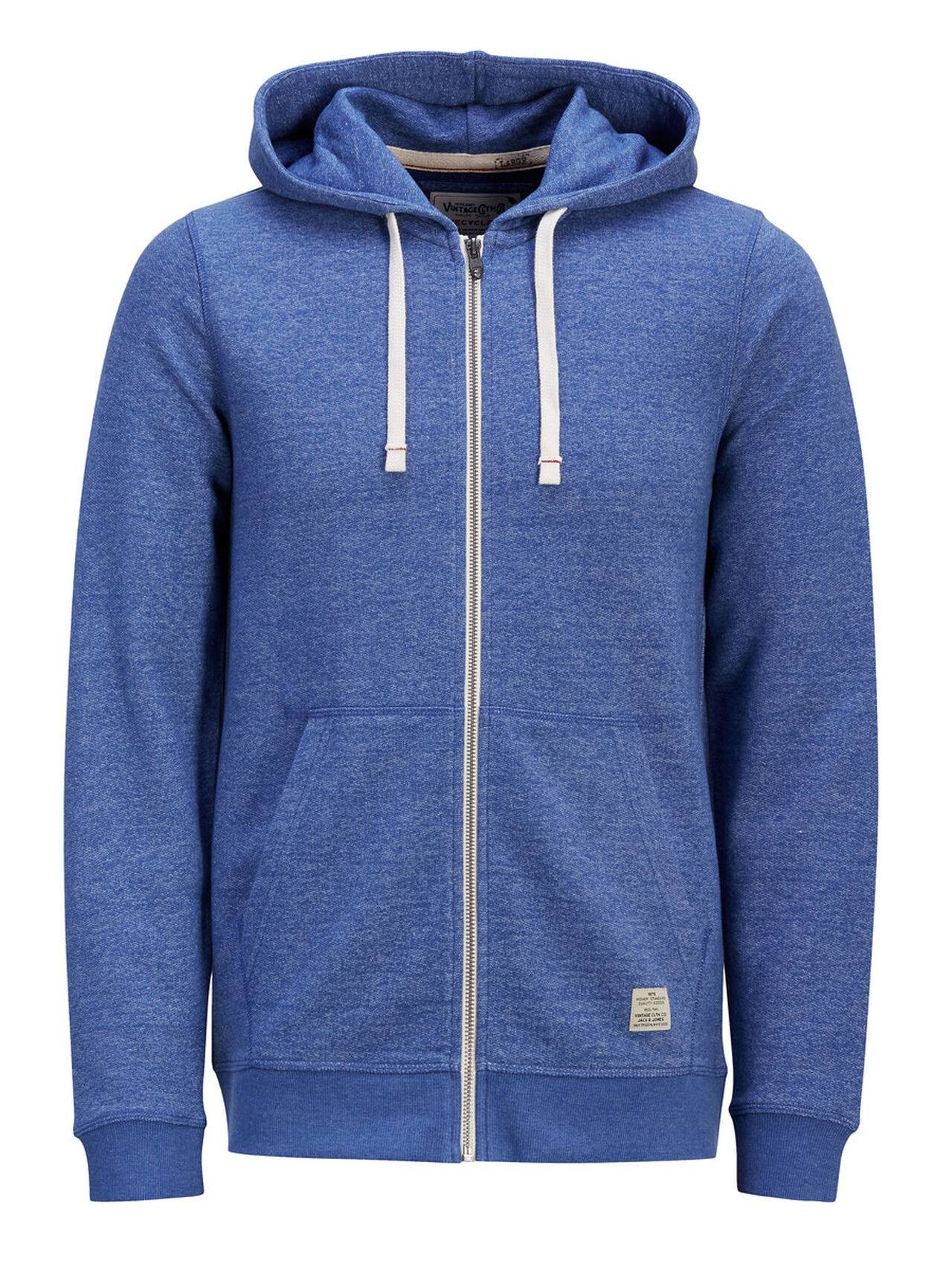 Jack & Jones Hooded Zip Through Sweatshirt MonacoBlue