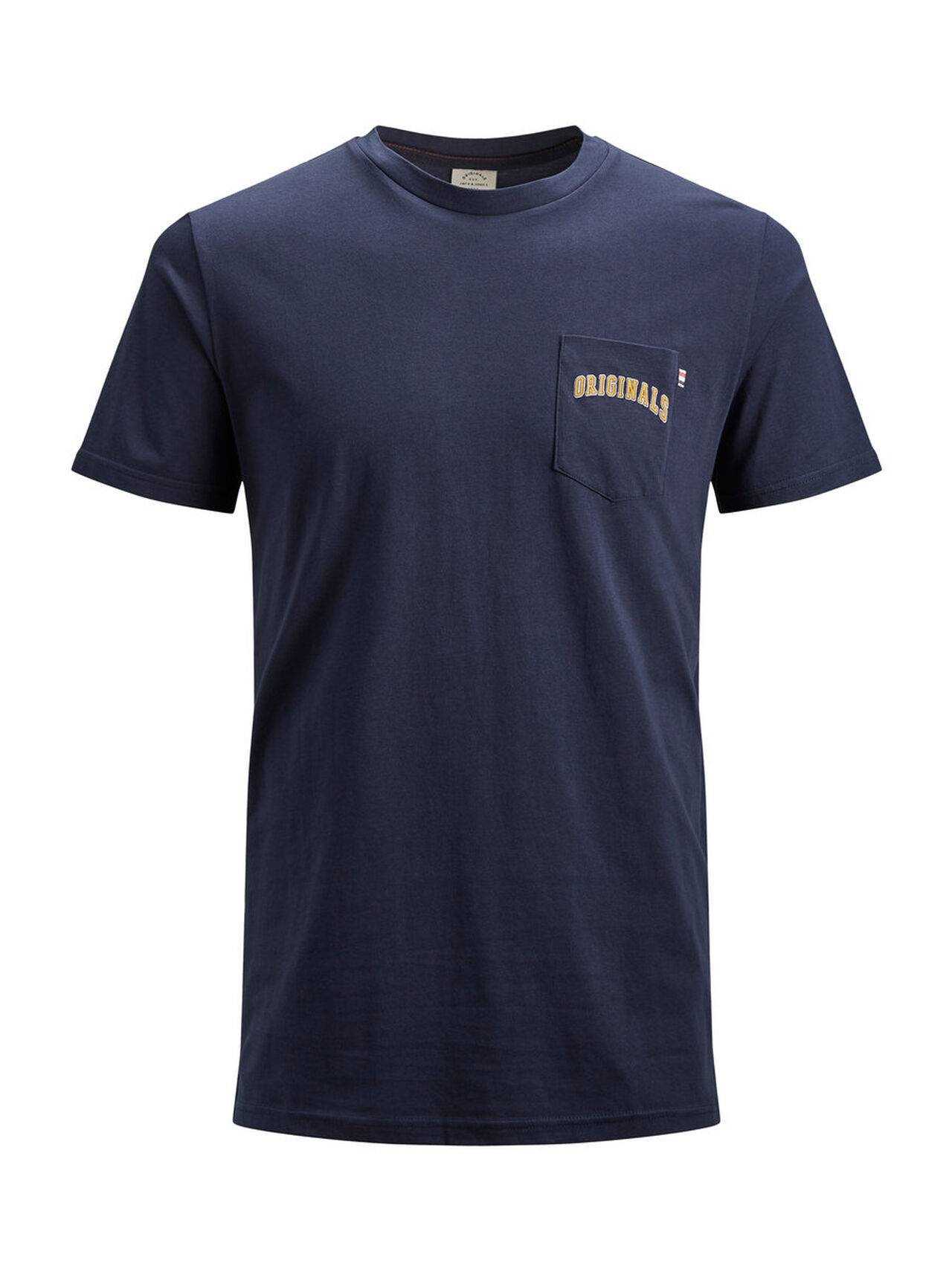 JACK & JONES Regular Fit T-shirt Men Blue TotalEclipse