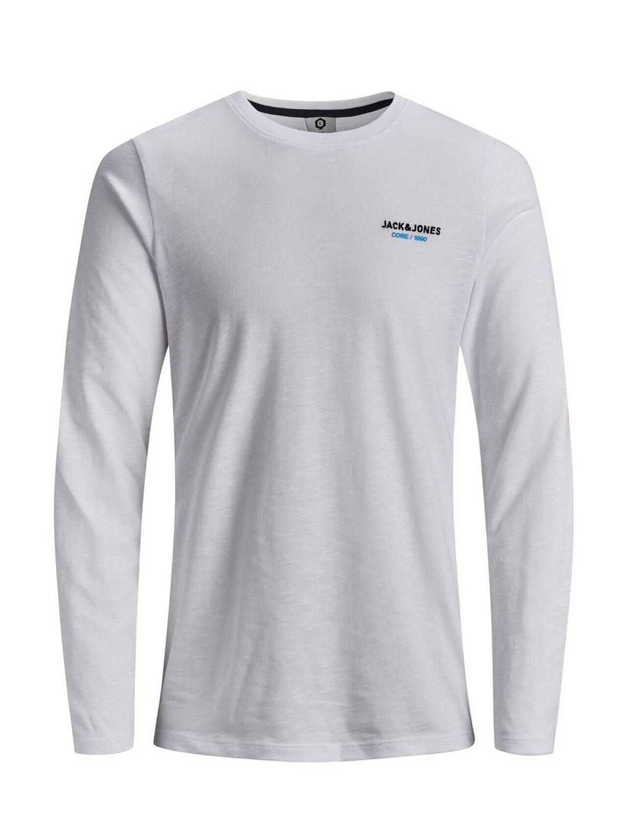 JACK & JONES Slim Fit Long-sleeved T-shirt Men White White