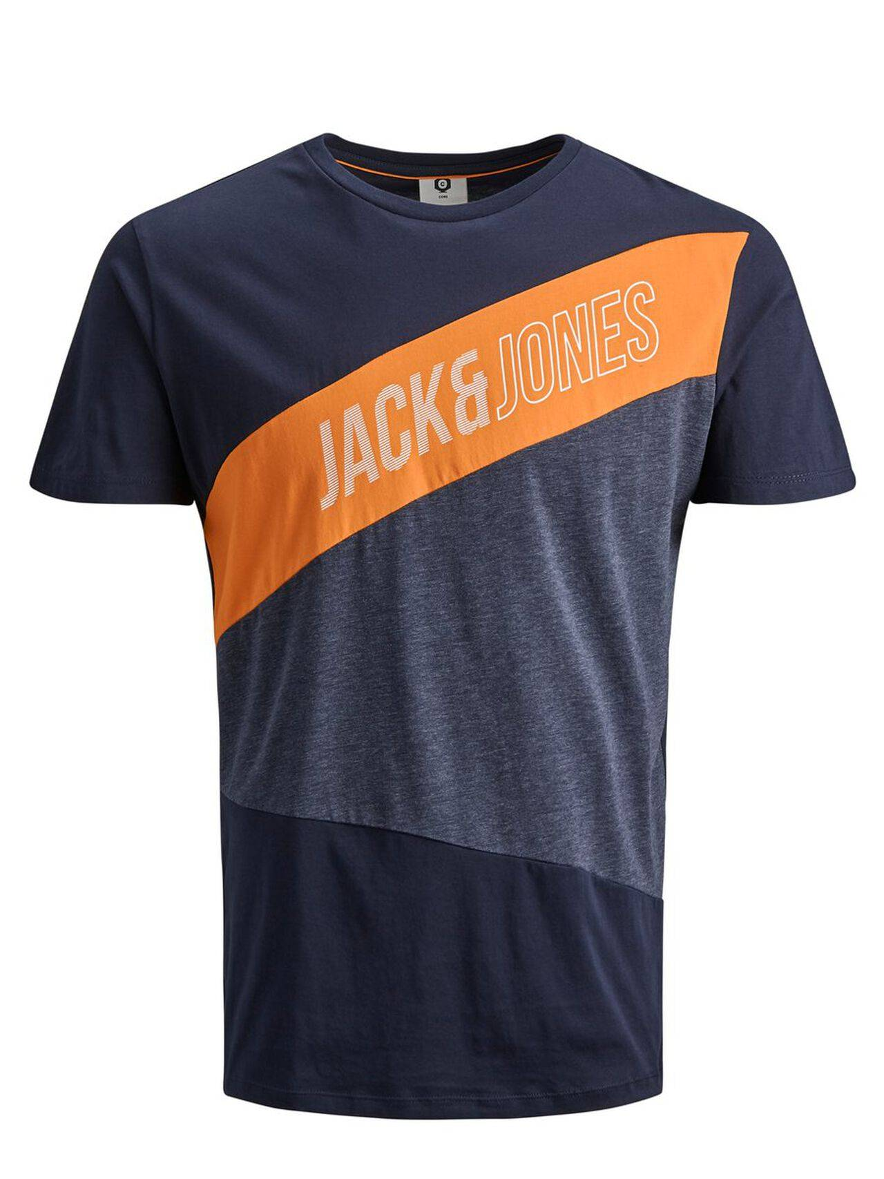 JACK & JONES Colour Block T-shirt Men Blue SkyCaptain
