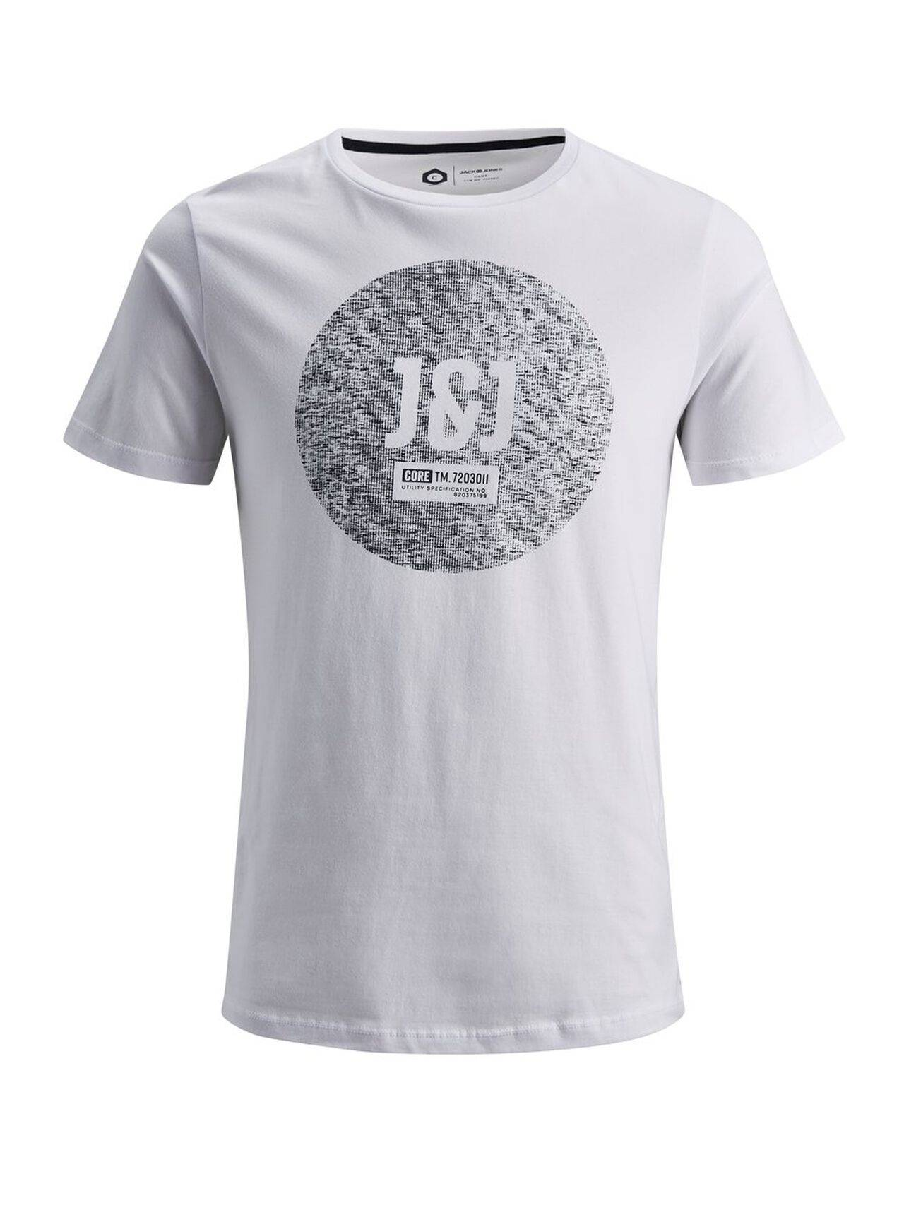JACK & JONES Print T-shirt Men White White