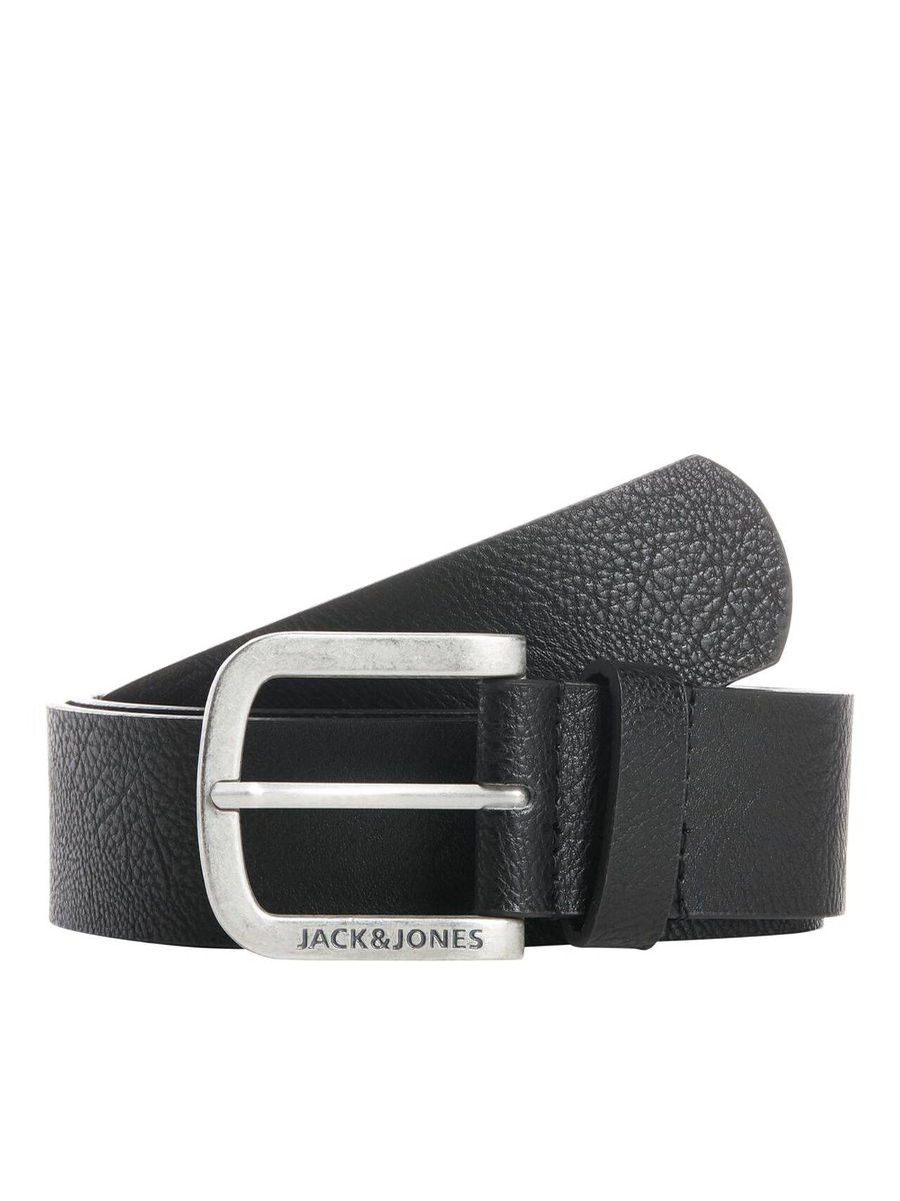 JACK & JONES Faux Leather Belt Men Black Black