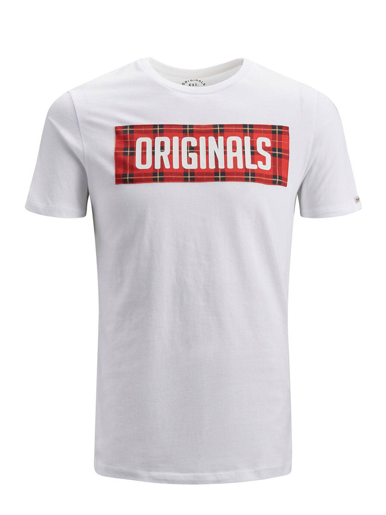 JACK & JONES Graphic T-shirt Men White White