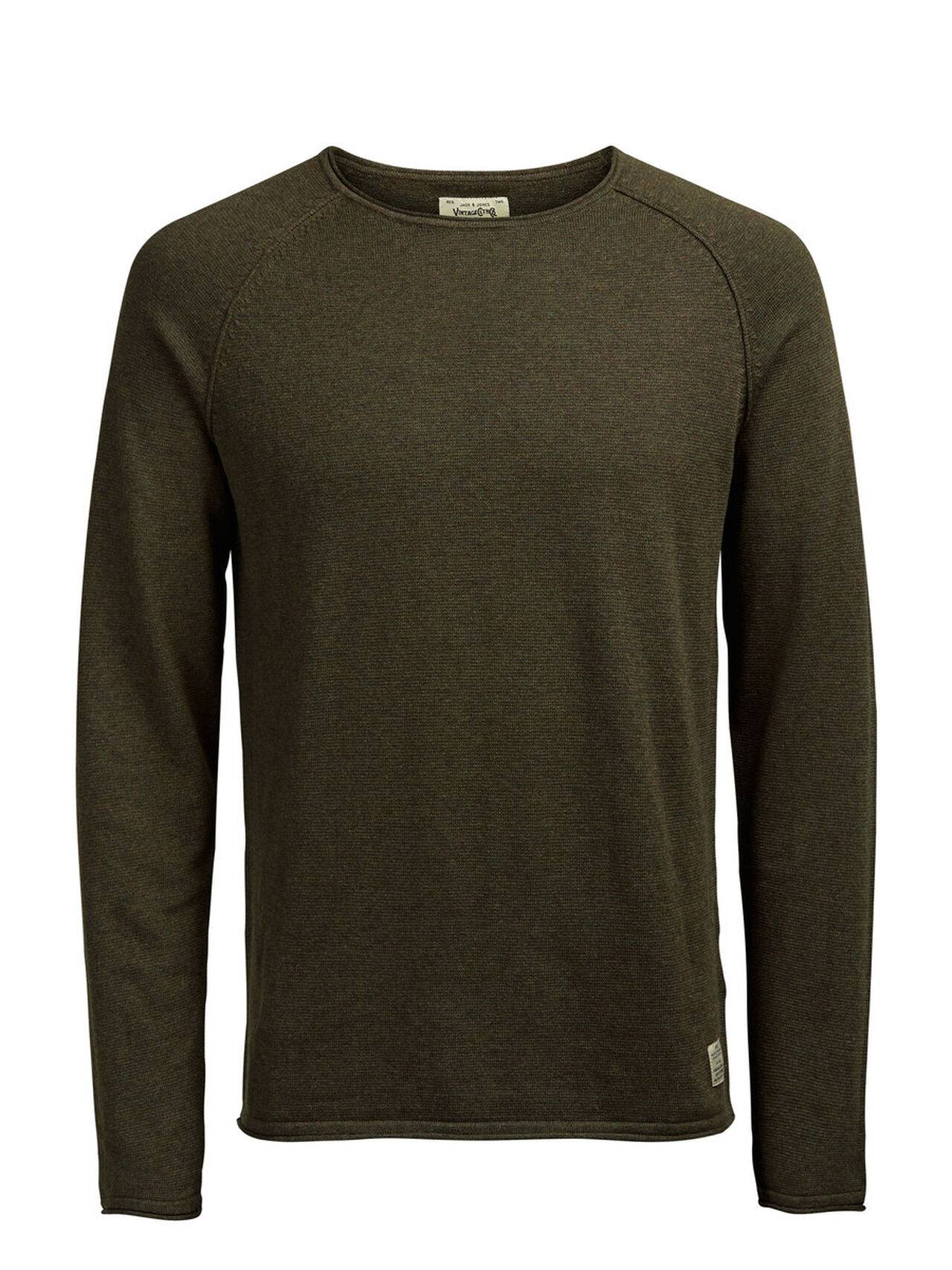 JACK & JONES Classic Knitted Pullover Men Green OliveNight