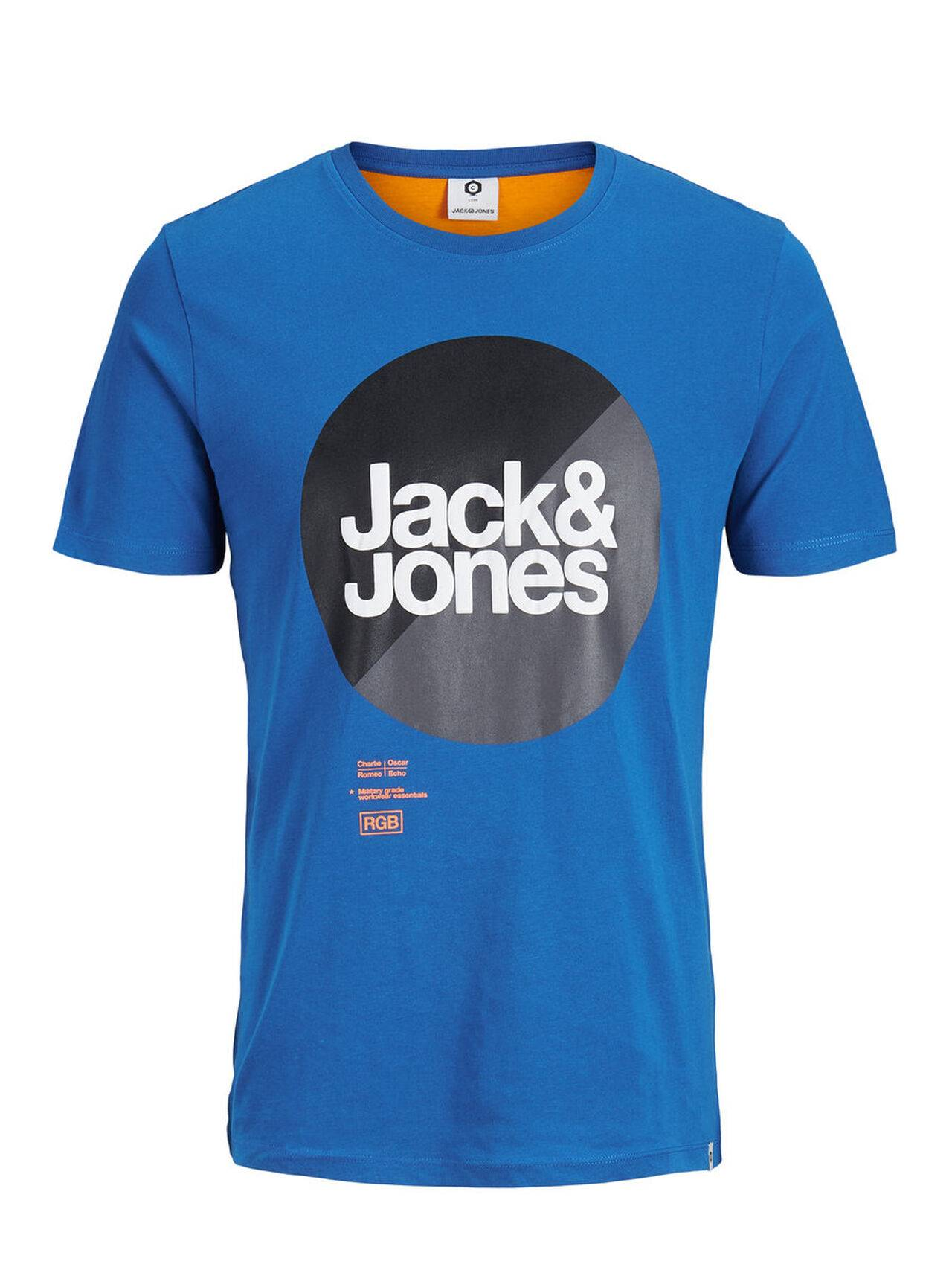 JACK & JONES Graphic T-shirt Men Blue ClassicBlue