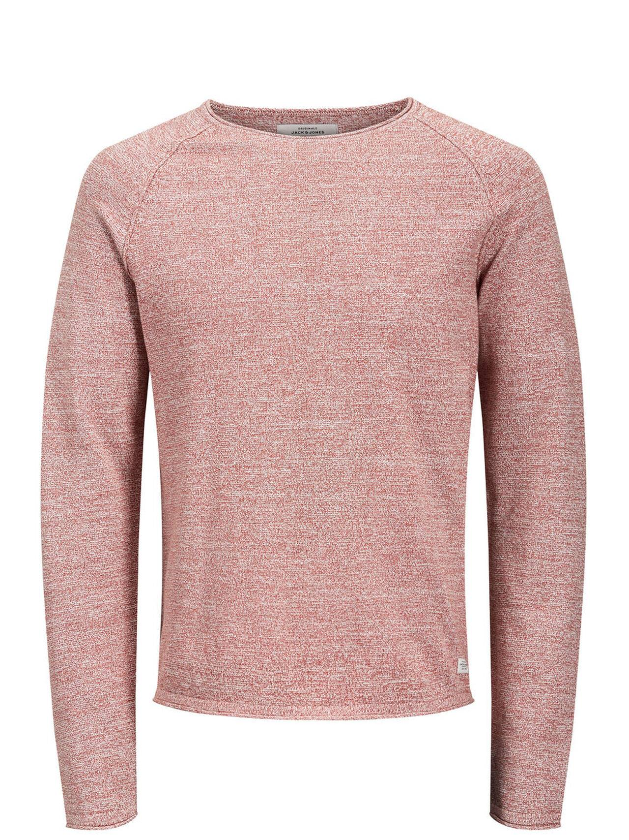 JACK & JONES Classic Knitted Pullover Men Red BrickRed