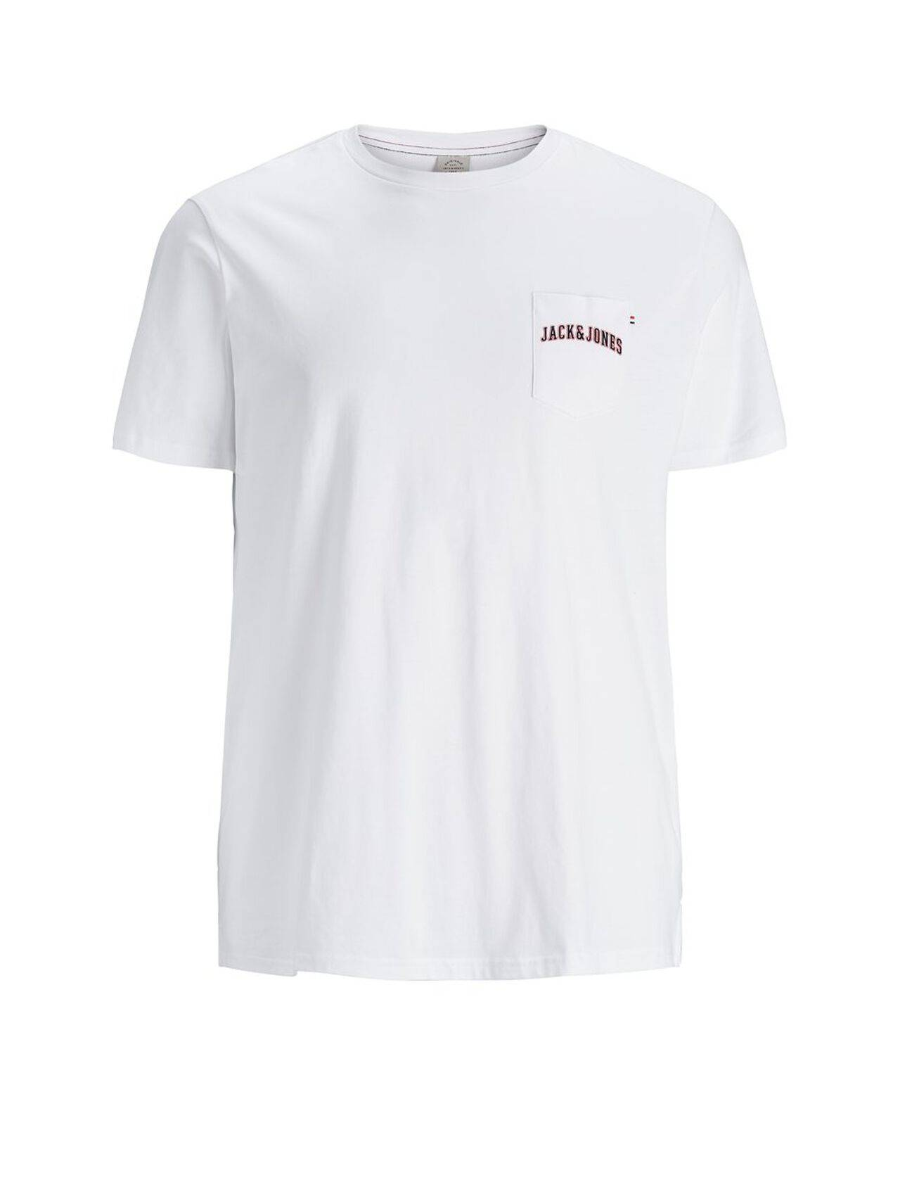 JACK & JONES Regular Fit Plus Size T-shirt Men White White