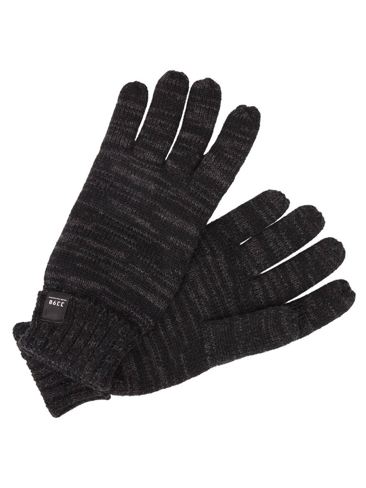 JACK & JONES Knit Gloves Men Grey DarkGreyMelange