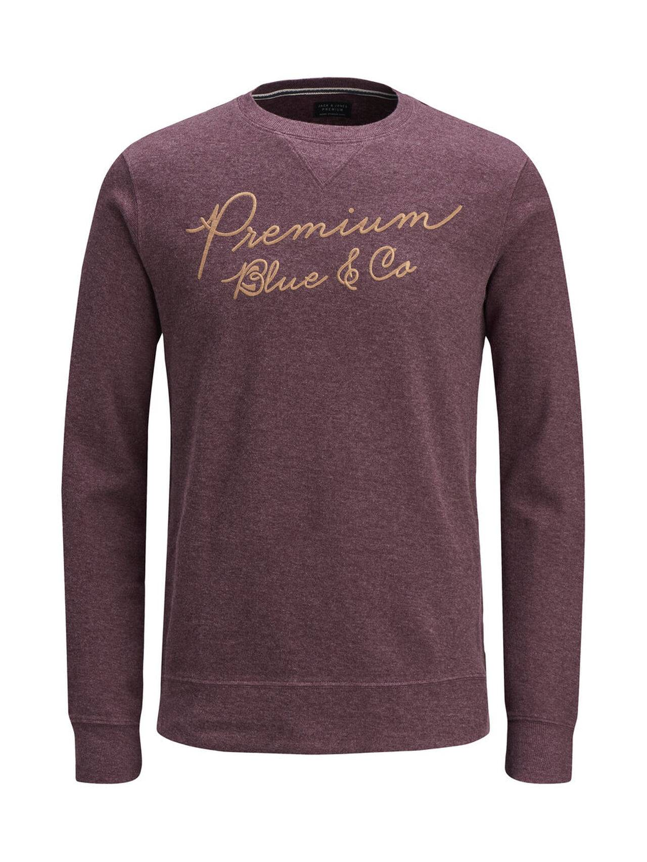 JACK & JONES Crew Neck Sweatshirt Men Purple Sassafras