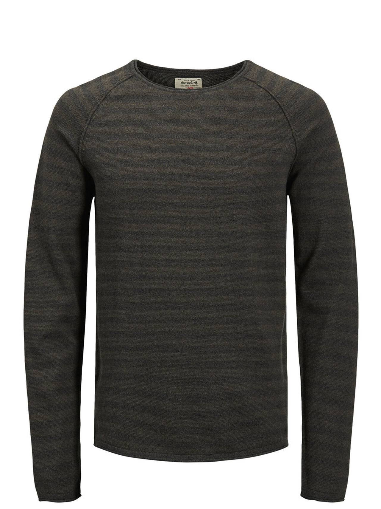 JACK & JONES Classic Knitted Pullover Men Blue SeaTurtle